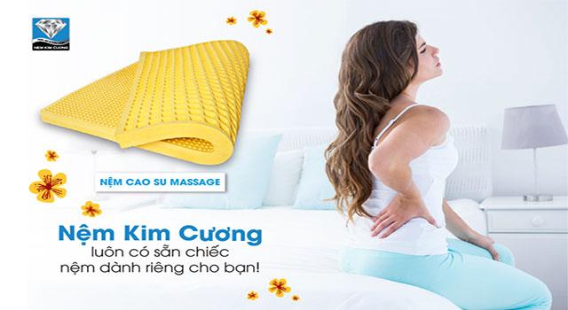 Đệm Kim Cương cho người mắc bệnh đau lưng