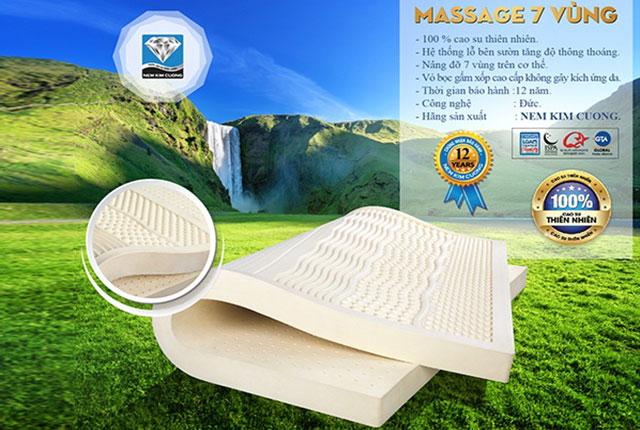 Đệm cao su Kim Cương xuất khẩu Princess Massage 7 'Zone